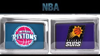 Detroit Pistons vs Phoenix Suns Friday, November 6 2015